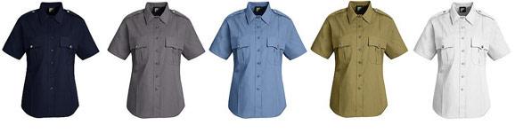 Women\'s New Dimension® Poplin Short Sleeve Uniform Shirt - Colors