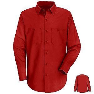 Red Kap Men s Long Sleeve Industrial Work Shirt. View available colors bc2752a97ea