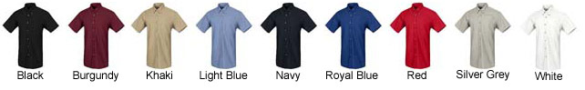 Men\'s Short Sleeve Poplin Dress Shirt