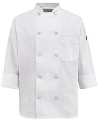 Women's Ten Pearl Button Chef Coat