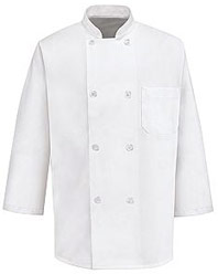 3/4 Sleeve Eight Pearl Button Chef Coat