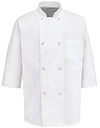 1/2 Sleeve Eight Pearl Button Chef Coat