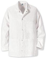 Red Kap Gripper Front Short Butcher Coat with No Pockets