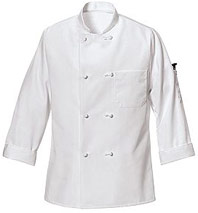 Ten Knot-Button Chef Coat with Thermometer Pocket