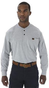 Wrangler® Riggs Workwear® Long Sleeve Solid Henley