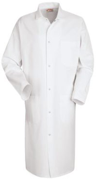 Red Kap Gripper Front Butcher Frock with Pockets