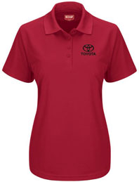 Toyota Women's Short Sleeve Performance Knit Pocketless Polo