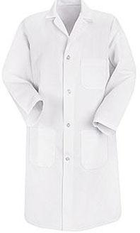 Red Kap Men's Four Button Lab Coat