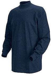 Red Kap Men's Long Sleeve Mock Turtleneck Shirt