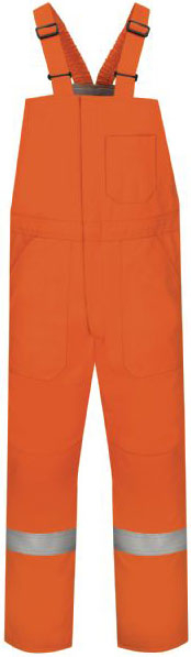 Bulwark Flame Resistant Excel FR Comfort Touch Deluxe Insulated Bib Overall W/Reflective Trim