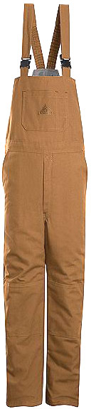 Bulwark Flame Resistant ComforTouch™Brown Duck Deluxe Insulated Bib Overall