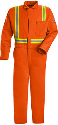 Bulwark Flame Resistant Classic Contractor Coverall with Reflective Trim
