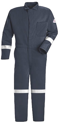 Flame Resistant Classic Contractor Coverall with Reflective Trim