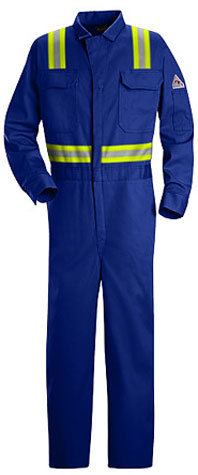 Flame Resistant Deluxe Contractor Coverall With Reflective Trim