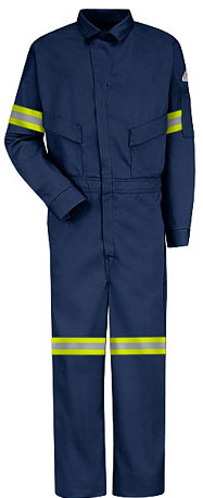 Bulwark Flame Resistant Summer Coverall w/ Reflective Trim