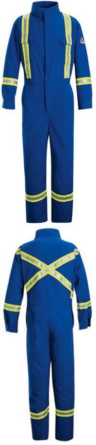 Flame Resistant ComforTouch™ 9 oz. Deluxe Coverall with Reflective Trim