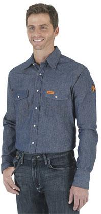 Wrangler® Denim Western Shirt
