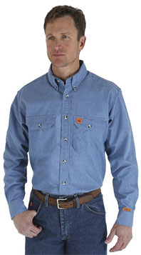 Wrangler® FR Flame Resistant Chambray Work Shirt