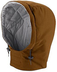Bulwark Flame Resistant Universal Fit Snap-on Insulated Brown Duck Hood