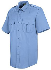 Men's New Dimension® Poplin Short Sleeve Uniform Shirt