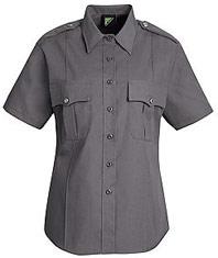 Women's New Dimension® Poplin Short Sleeve Uniform Shirt