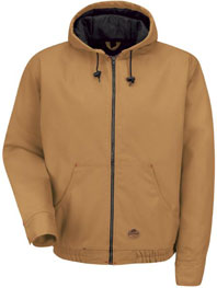 Red Kap Blended Duck Zip-Front Hooded Jacket