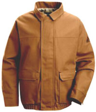 Flame Resistant ComforTouch™ Brown Duck Lined Bomber Jacket