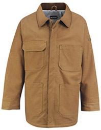 Bulwark Flame Resistant ComforTouch™ Brown Duck Lineman's Coat