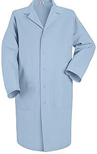 Red Kap Men's Gripper Front Lab Coat