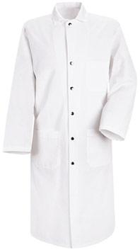 Red Kap Snap Front Spun Poly Butcher Coat