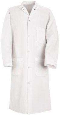 Red Kap Gripper Front Polyester Butcher Coat