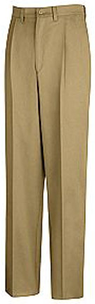 Red Kap Men's Pleated Front Cotton Pant