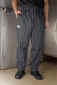 Chalk Stripe Baggy Chef Pants