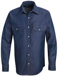 Red Kap Men's  Long Sleeve Denim Western Shirt