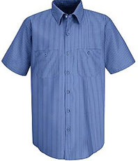 Red Kap Men's Industrial Stripe Broadcloth Work Shirt