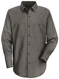 Red Kap Men's Wrinkle Resistant Long Sleeve Cotton Shirt