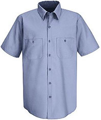 Red Kap Men's Wrinkle Resistant Short Sleeve Work Shirt