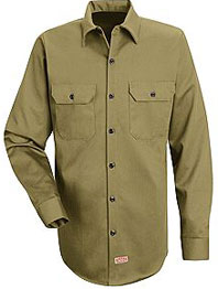 Red Kap Men's Heavyweight Cotton Twill Long Sleeve Workshirt