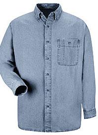 Wrangler's Men's Denim Long Sleeve Work Shirt
