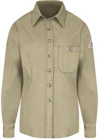 Bulwark Women's Flame Resistant 5.25 OZ Button-Front Dress Uniform Shirt