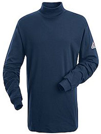 Flame Resistant Long Sleeve Tagless Mock Turtle Neck