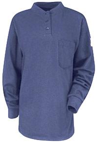 Bulwark Women's Flame Resistant Long Sleeve Tagless Henley Shirt