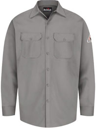 Bulwark Flame Resistant Button Front Work Shirt