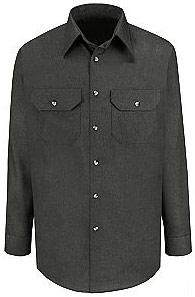 Red Kap Men's Heathered Poplin Long Sleeve Shirt