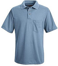 Red Kap Men's 100% Polyester Pique Polo Shirt