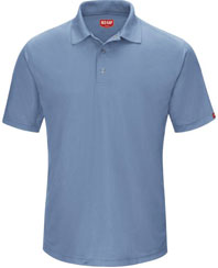 Men's Performance Gripper-Front Knit Polo