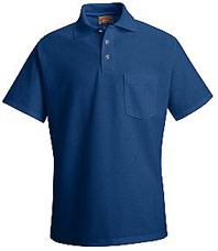 Red Kap Men's Pique Knit Blended Polo with Pocket