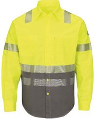 Flame Resistant ComforTouch 7.oz Hi-Viz Color Block Uniform Shirt