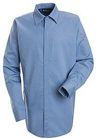 Bulwark Flame Resistant ComforTouch™ Concealed Gripper Pocketless Shirt