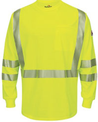 Flame Resistant Hi-Viz Light Weight Long Sleeve T- Shirt